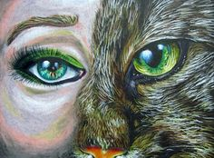 Human and Animal Mash-up Project - Conway High School Art Project
