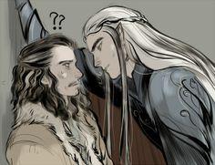 The Hobbit - Thranduil x Bard - Barduil