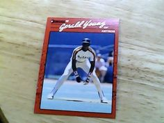 don russ 1990 gerald young card 325 astros