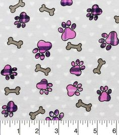 Snuggle Flannel Fabric-Pink Plaid Paw Prints And Bones Red Flannel, Plaid, Joanns Fabric And Crafts, Creative Crafts, Snuggles, Cute Art, Hello Kitty, Cross Stitch, Punto De Cruz