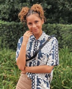 Camila Gallardo, Floral Tie, Curly Hair Styles, Hair Beauty, Vogue, Hairstyle, Style Inspiration, Celebrities, Wattpad Books