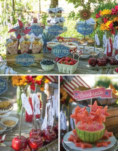 Vintage Americana 4th of July party by Lia Griffith + Lisa Frank...watch liagriffith.com for party decor tutorials!  {featured on Pizzazzerie}