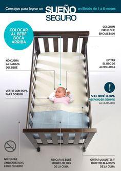 Consejos para lograr el sueño seguro de tu bebé
