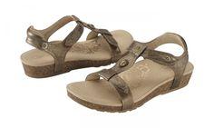 1775dbdf8d5 Aetrex Lori Sandal  Bronze Aetrex Shoes