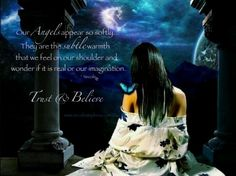 Angels are such silent gentle beings that we have to pay close attention to feel their presence.  They're always with this.  Many blessings, Cherokee Billie