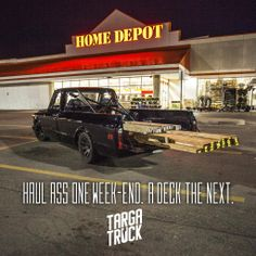 "And I quote ""The furthest from a trailer queen one vehicle has ever been."" Thank you for the complement. Home Depot, Trucks, Quote, Vehicles, Quotation, Track, Qoutes, Truck, Vehicle"