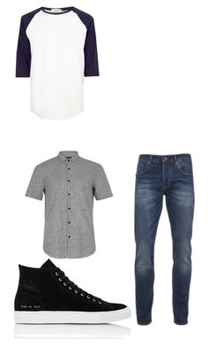 """Untitled #12"" by imetardon on Polyvore featuring Scotch & Soda, River Island, Common Projects, Topman, men's fashion and menswear"