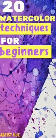 Watercolor techniques for beginners | watercolor tutorial | watercolor beginner | watercolor beginner step by step | watercolour techniques | watercolour beginner | watercolor technique beginner