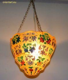 Orientalische handbemalte Lampe Kamelleder Reich 1001-Nacht  Camel Skin Lamp No9