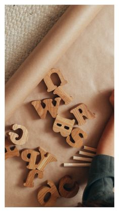 Wood Alphabet by HappyTreeStore. Wooden Alphabet letters for kids. Homeschool. Waldorf Toys made from Montessori Materials. Educational Eco-friendly Toys for baby #nursery #wood #toy