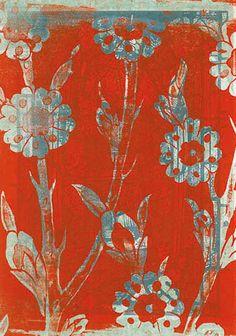 Barbara Krajci, »Engel«, 2000, Siebdruck auf Seidenpapier, 50 x 38 cm