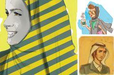 Mnawrah illustrations by Aysha Al Hamrani - UAE