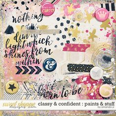 Classy & Confident : Paints & Stuff by Amanda Yi colorful digital brushes perfect for digital and hybrid art journaling and mixed media projects