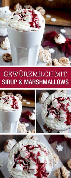 Perfekt für kalte Wintertage: Gewürzmilch mit Sirup und Marshmallows / christmas recipe for cold winter days: milk with sirup and marshmallows via DaWanda.com