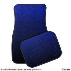 Black and Electric Blue Car Mats