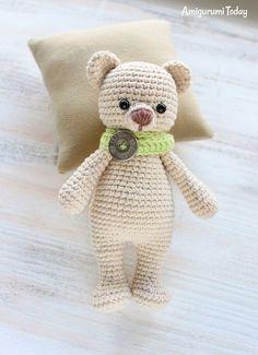 Медвежонок-обнимашка - схема вязания игрушки амигуруми