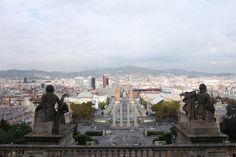 Vista desde Montjuic, Barcelona, España