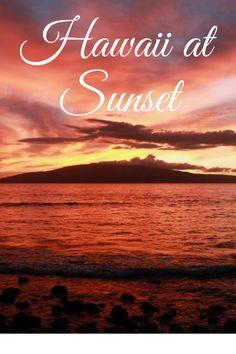 View of Lanai from Maui at sunset. 8 tips on how you can capture the perfect Hawaiian sunset photo: http://www.ohanafun.net/blog/maui-sunset-photo-tips/ Photograph: Lanai, from Launiupoko Beach Park, Maui – © Jonathan Sherwin
