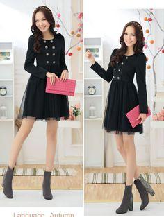 #dress#casual#black#fashionable#laff♥♥