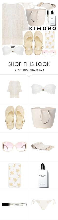 """Kimono Cool with Yoins"" by vanjazivadinovic ❤ liked on Polyvore featuring Marysia Swim, Doug Johnston, Valentino, Sonix, Bobbi Brown Cosmetics, Eberjey and Kendra Scott"