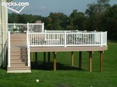 For design interest and to define specific areas, stagger the size of your deck levels.