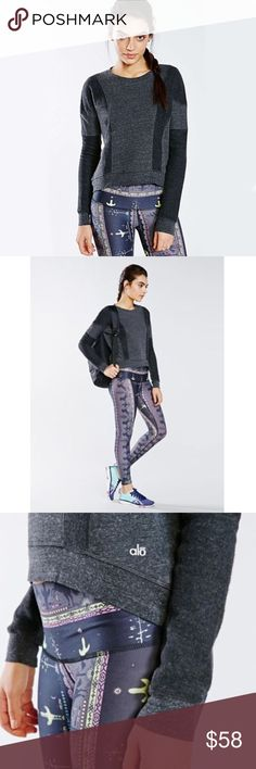 Alo Yoga Rapids Sweatshirt Super easy pullover before / after a sweat session // condition: good; no flaws // no trades please ALO Yoga Tops Sweatshirts & Hoodies