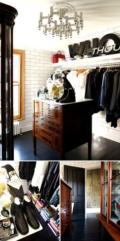 London dressing room before & after. (It's a pretty drastic change!)