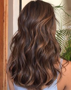 Brown Hair Balayage, Brown Blonde Hair, Brunette Hair, Hair Highlights, Brunette Ombre, Long Brunette, Caramel Balayage, Brunette Color, Color Highlights