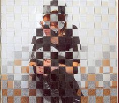 photo weaving - I'd like to use this idea with complimentary drawings instead