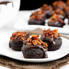 Double chocolate bacon cupcakes