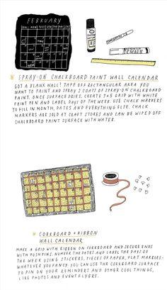 5 Cool DIY Calendar Ideas for 2013 « The Secret Yumiverse