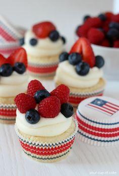 Fruity Fourth Cupcakes Homemade Recipe
