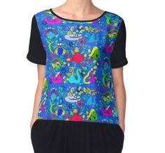 Women's Chiffon Top Funky Outfits, Cartoon T Shirts, Chiffon, Blouse, Pattern, Clothes, Accessories, Tops, Design
