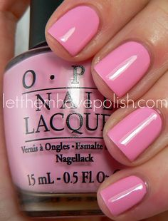 """OPI Pink Friday - thank you nicki minaj. went on the hunt for """"bubble gum pink"""" and i found this jewel."""