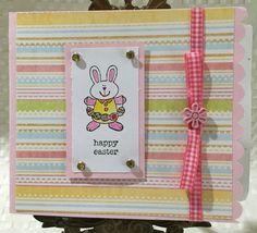 Happy Easter Bunny Card by CraftyCardandWreaths on Etsy