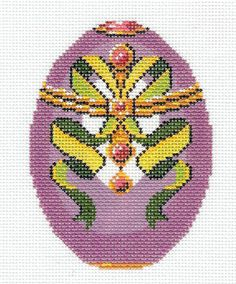Lee Jeweled Egg Handpainted Needlepoint Canvas HP 460 | eBay