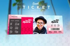 Event Ticket Template by Patoo Design on Creative Market