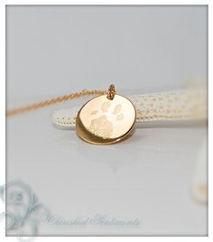 Your pets actual paw or nose print in 14k by CherishedSentiments