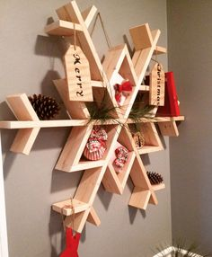 Free DIY Woodworking Plans for Building a Shelf: Free Snowflake Shelf Plan at Chasing A Dream