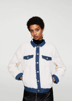 This inside-out shearling-lined denim jacket totally gives off that comfy-cozy log cabin feeling.