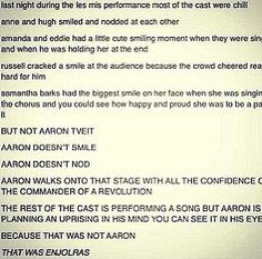 Aaron at the Oscars - LOVED IT! and im pretty sure ramin karimloo was in the ensemble... js