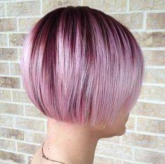 purple ombre balayage bob