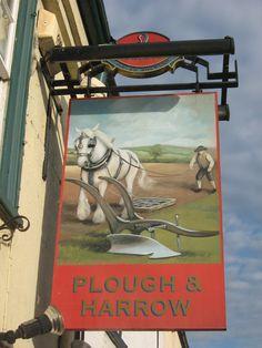 Plough and Harrow, Pub Sign, Bridge