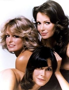 Charlie's Angels: the original line-up of Farrah Fawcett as Jill Munroe, Kate Jackson as Sabrina Duncan, and Jaclyn Smith as Kelly Garrett, plus other members of the team throughout the years