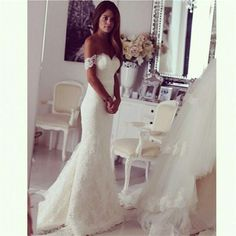 Wholesale Off The Shoulder Bridal Mermaid Wedding Dresses 2016 Lace Wedding Dresses Fit And Flare Bustle Tail Wedding Dresses Purple Wedding Dress Red Wedding Dress From Mygirl621621, $135.08| Dhgate.Com