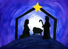 A beautiful painted nativity scene for the kids to make