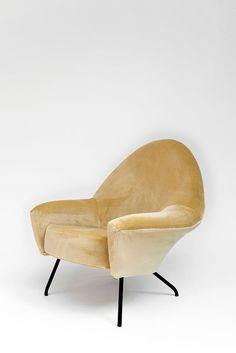 Velvet Lounge Chair | Joseph-André Motte