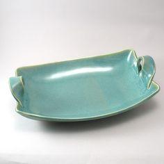 Ceramic Serving Dish - Handmade Tableware - Pottery - Serving Bowl - Rectangular- Stoneware Server - Pearl Green Glaze