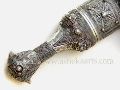 IArab Jambiya Dagger with silver filgree decoration …