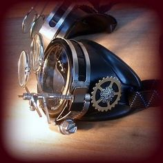 Steampunk goggles glasses welding cyber punk biker gothic rave cosplay aviator
